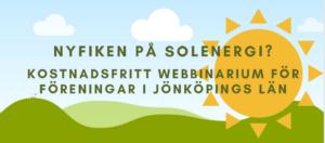 Webbinarium om solenergi för föreningar  –  22 september