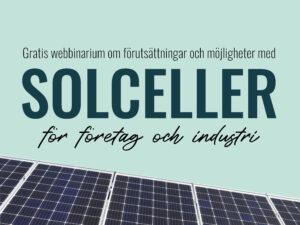 Webbinarium: Solceller för företag och industri