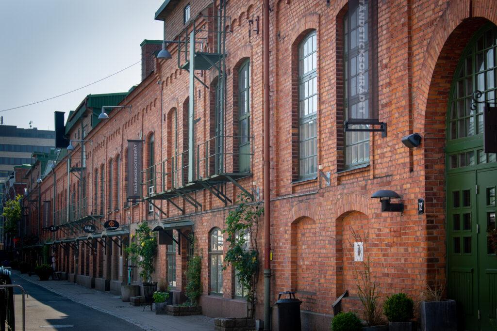 Tegelhus på Tändsticksområdet i Jönköping